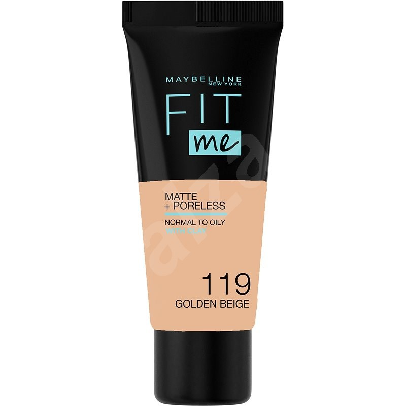 MAYBELLINE NEW YORK Fit Me! Matte & Poreless Foundation 119 Golden Beige 30 ml - Make-up