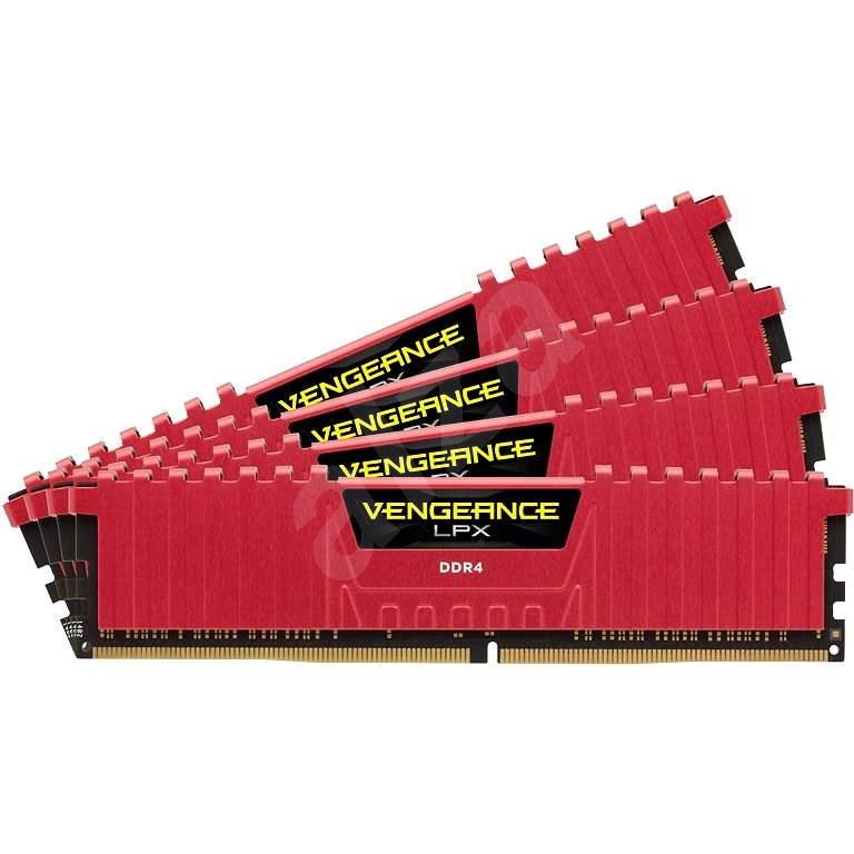 Corsair 16GB KIT DDR4 2800MHz CL16 Vengeance LPX červená - Operační paměť
