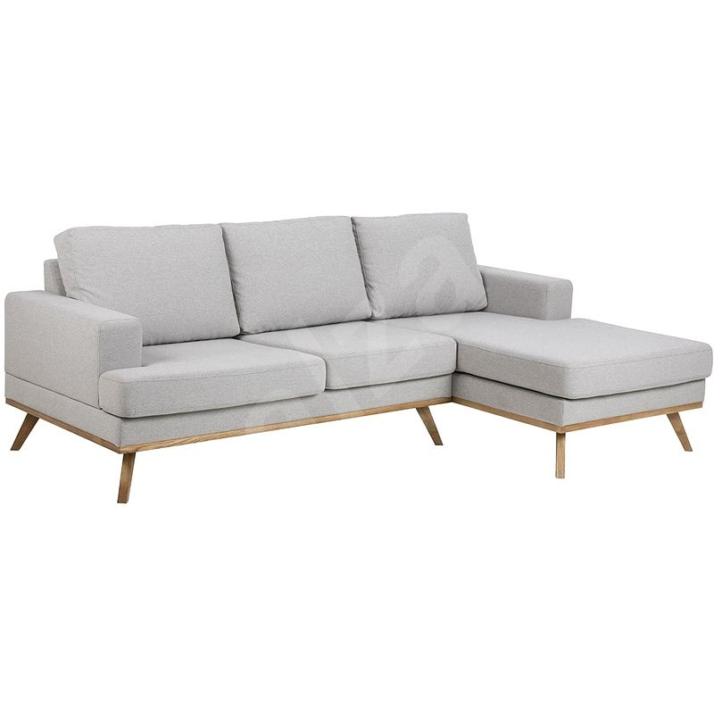 Design Scandinavia Corner sofa right Scandia, 233 cm, gray - Sofa