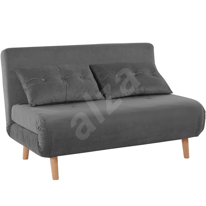 Danish Style Sofa bed Raspberry double, gray - Couch