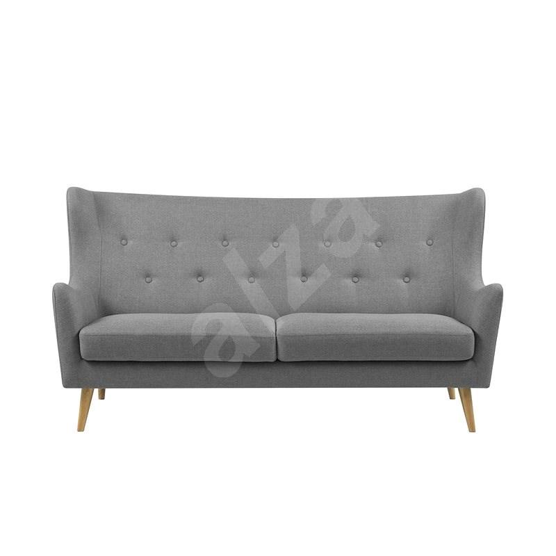 Design Scandinavia Sofa Kamma. 201 cm, light gray - Couch