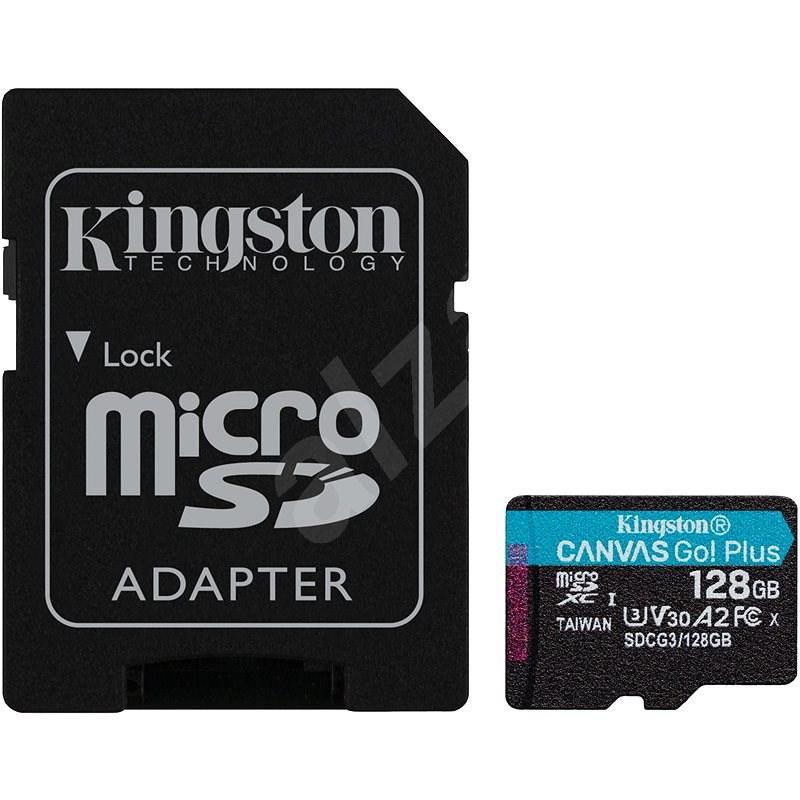 Kingston MicroSDXC 128GB Canvas Go! Plus + SD adaptér - Paměťová karta