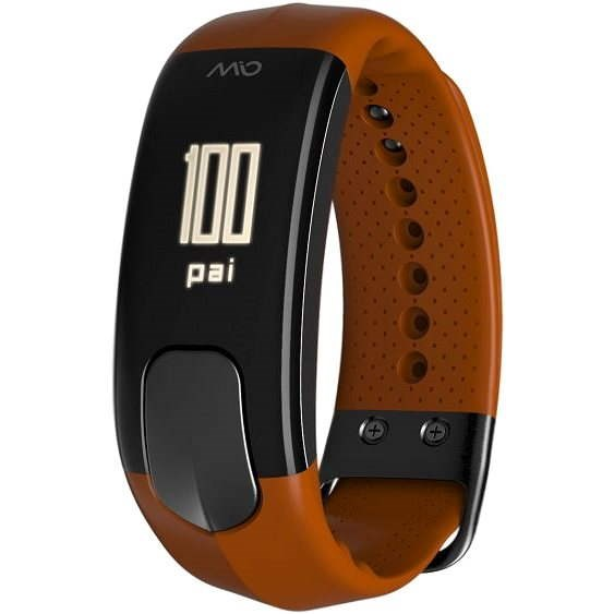 MIO SLICE oranžový - dlouhý pásek - Fitness náramek