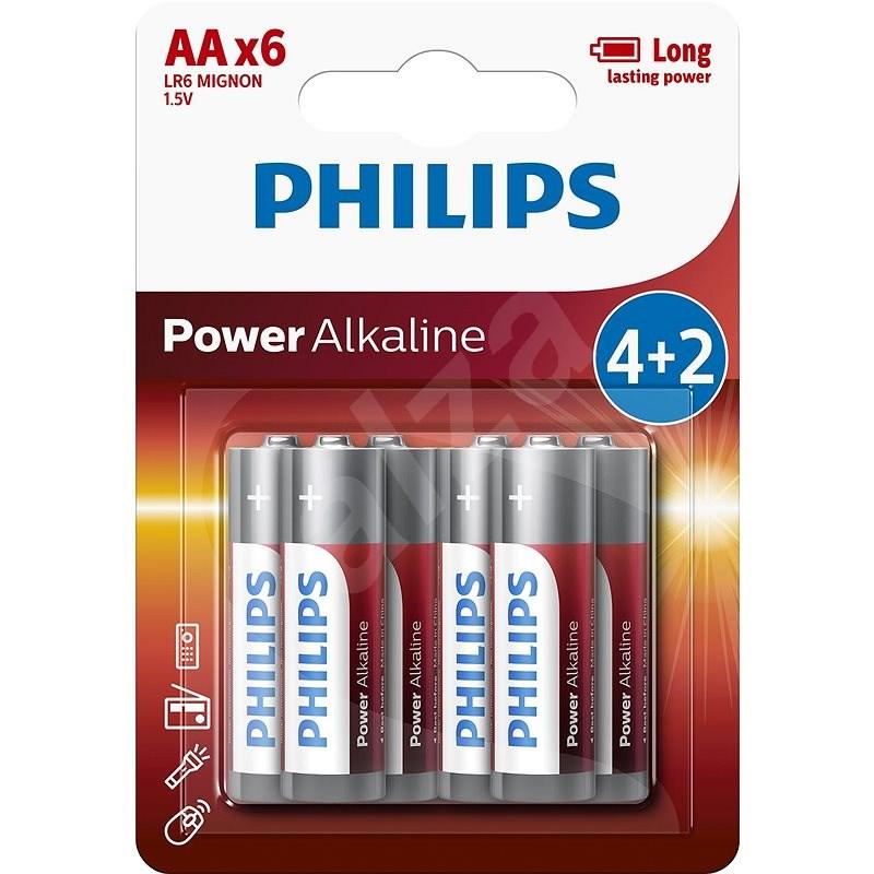 Philips LR6P6BP 6ks v balení - Jednorázová baterie