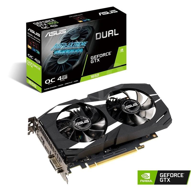 ASUS DUAL GeForce GTX1650 O4G - Grafická karta