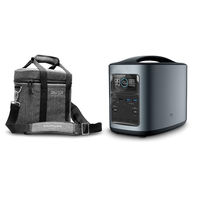 EcoFlow RIVER370 Portable Power Station Black + Element Proof Protective Case - Nabíjecí stanice