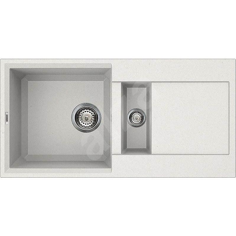 ELLECI EASY 425 Bianco titano/Granitek - Granitový dřez