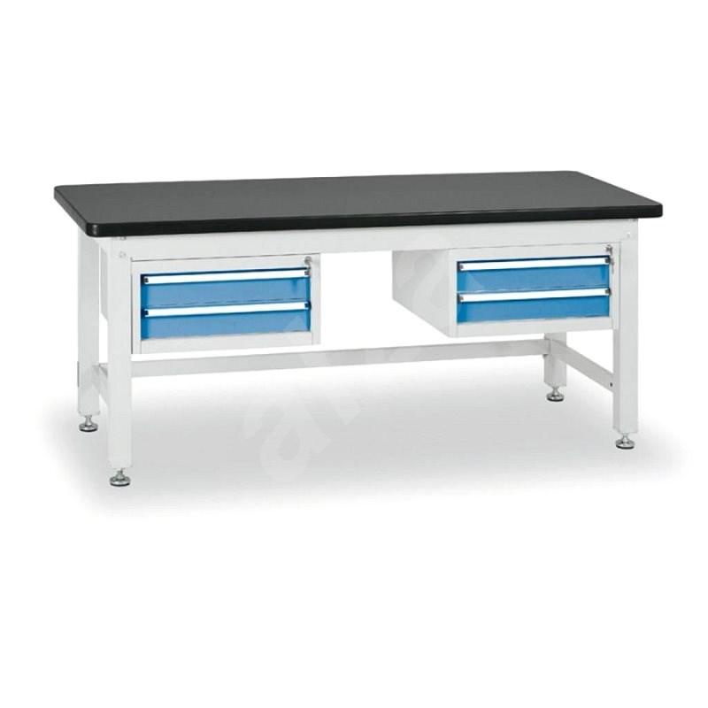 Enprag Dílenský stůl 800 x 1800 x 750 mm - 2x 2 zásuvky - Pracovní stůl