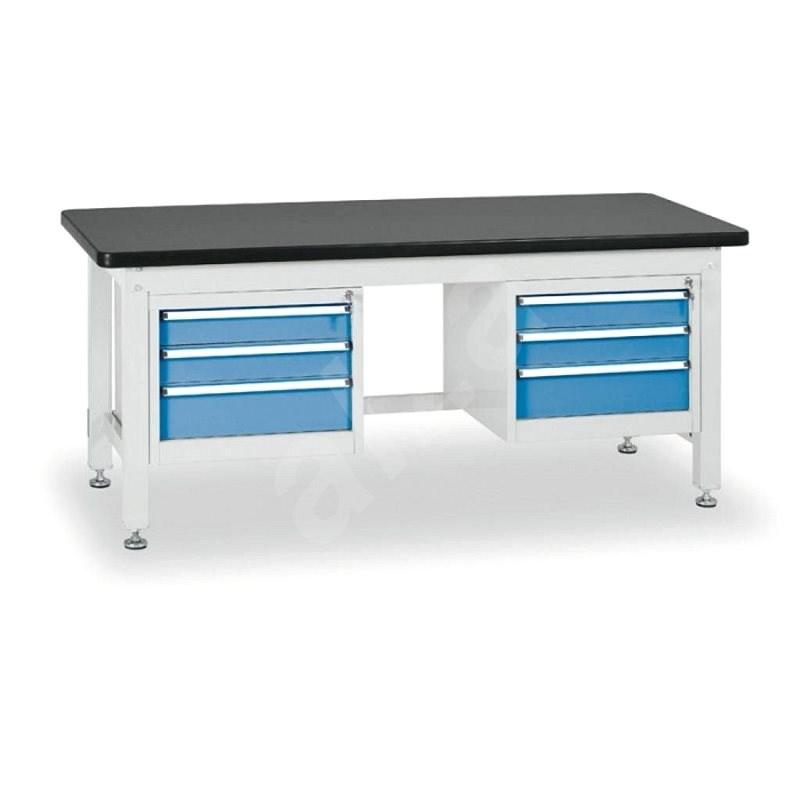 Enprag Dílenský stůl 800 x 2100 x 750 mm - 2x 3 zásuvky - Pracovní stůl