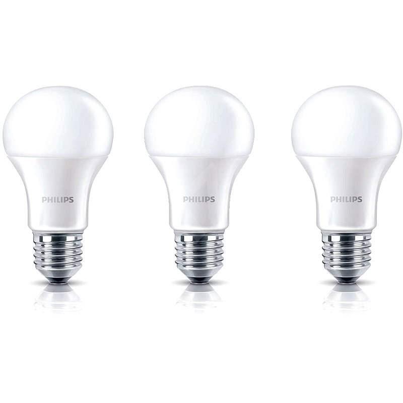 Philips LED 8-60W, E27, 2700K, matná, set 3ks - LED žárovka