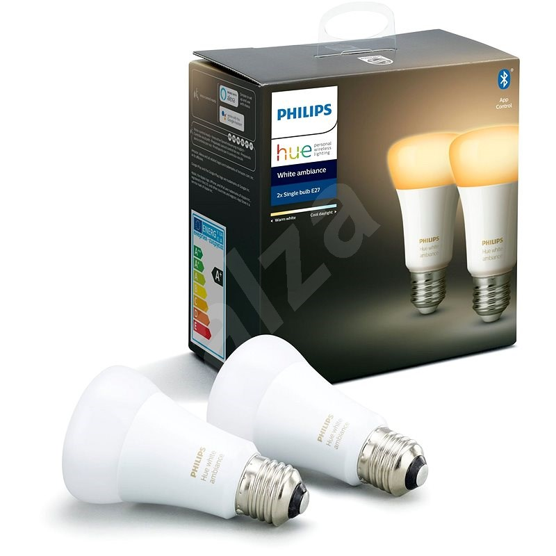 Philips Hue White Ambiance 8.5W E27 set 2ks - LED žárovka