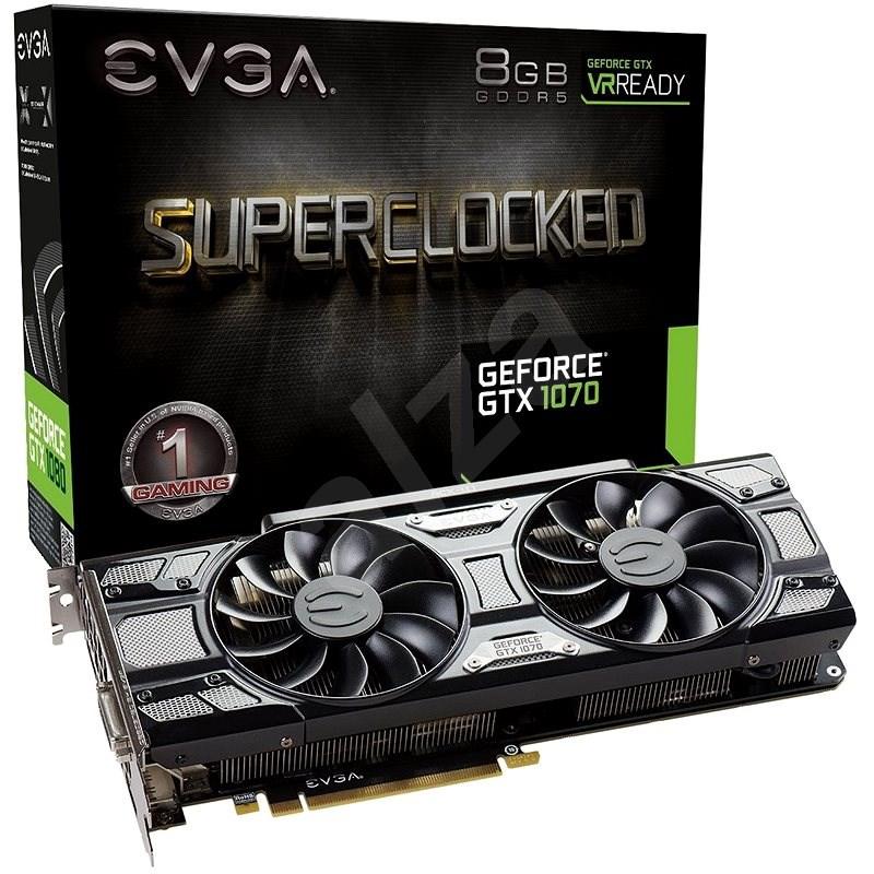 EVGA GeForce GTX 1070 SC GAMING  BLACK EDITION ACX 3.0 - Grafická karta