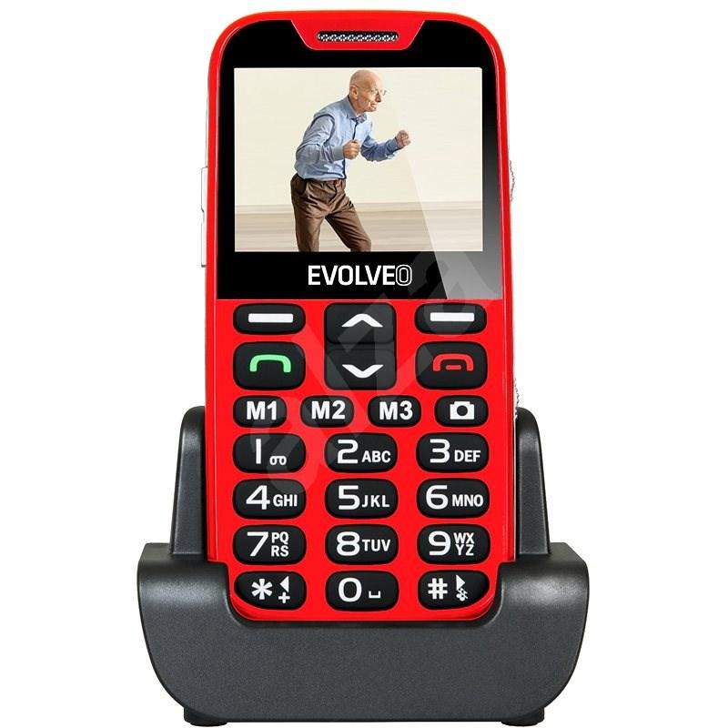 EVOLVEO EasyPhone XD červeno-stříbrný - Mobilní telefon