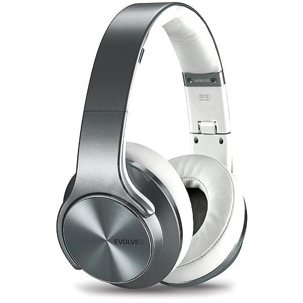 EVOLVEO SupremeSound E9 stříbrno/bílá - Bezdrátová sluchátka