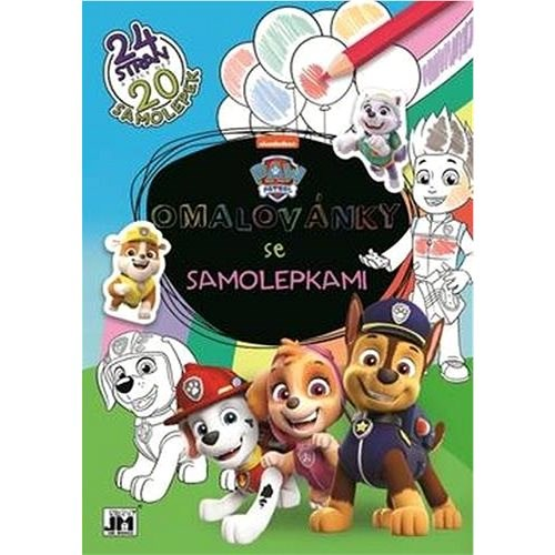 Coloring book with stickers Paw patrol - Creative Kit