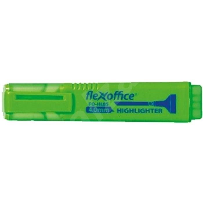 FLEXOFFICE HL05 4mm zelený - Zvýrazňovač