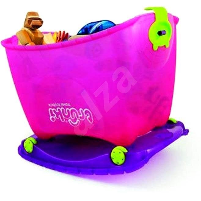 Box na hračky 4v1 růžový - Herní set