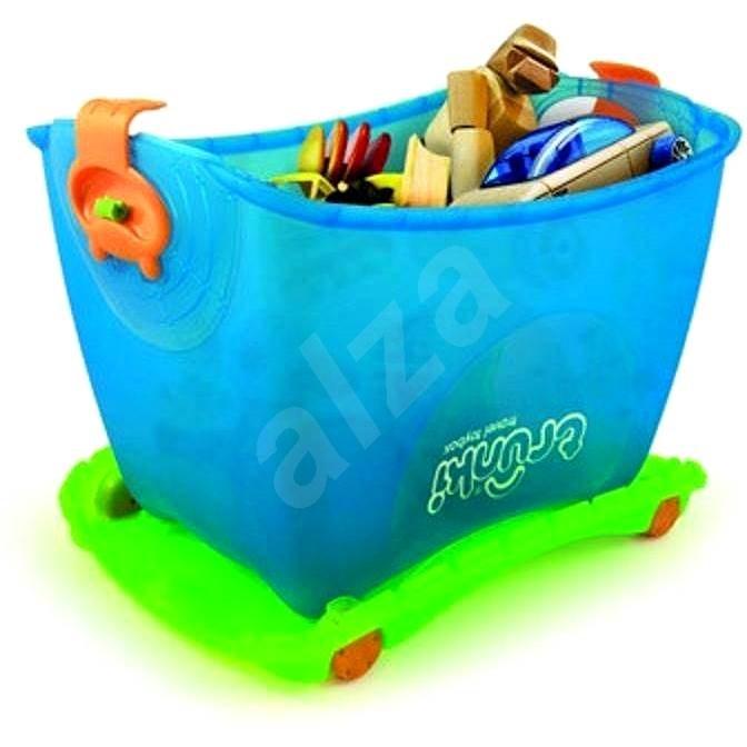 Box na hračky 4v1 modrý - Herní set