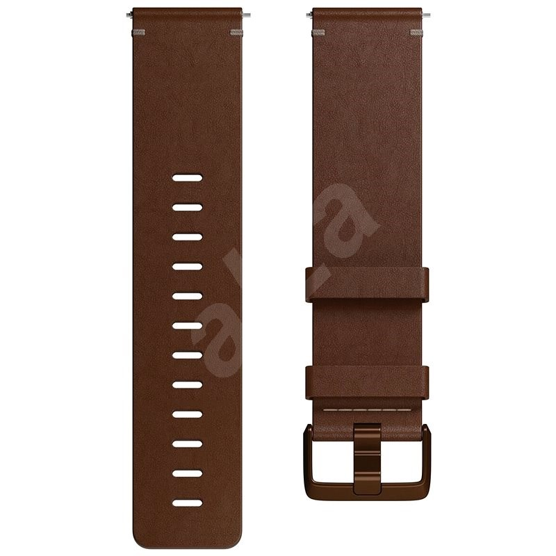 Fitbit Versa Accessory Band, Leather, Cognac, Small - Řemínek