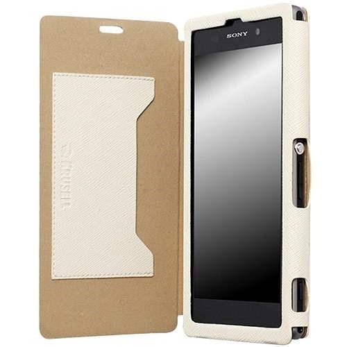 Krusell MALMÖ FLIPCOVER pro Sony Xperia Z1 bílá - Pouzdro na mobil