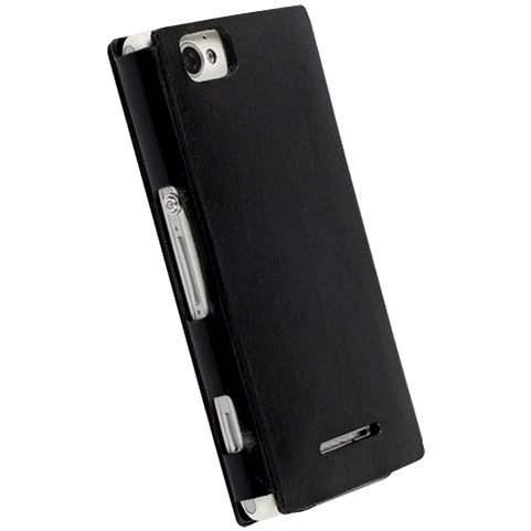 Krusell KIRUNA FLIPCOVER Sony Xperia Z1 Compact, černé - Pouzdro na mobil