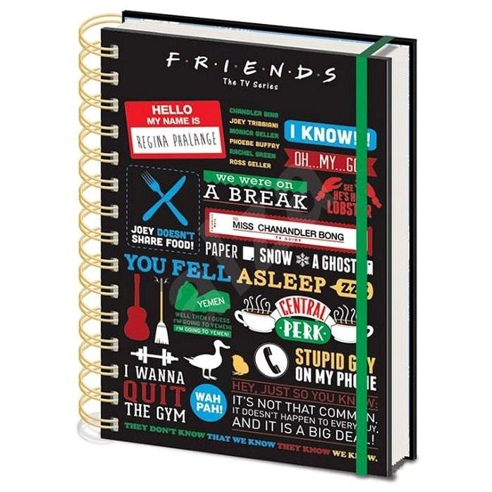Friends - Infographic - zápisník s kroužkovou vazbou - Zápisník