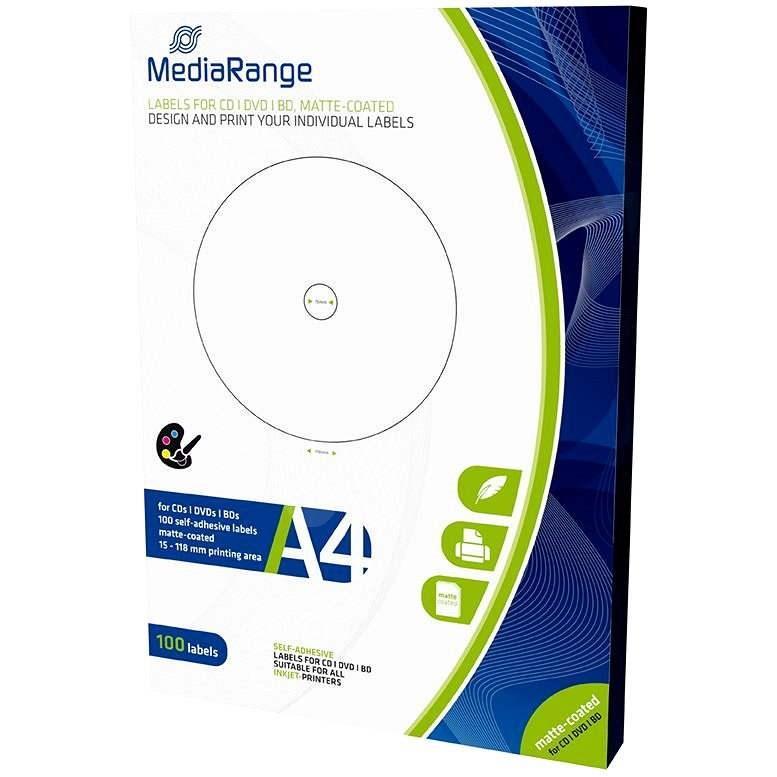 Mediarange CD/DVD/Blu-ray etikety 15 mm - 118 mm - Samolepka