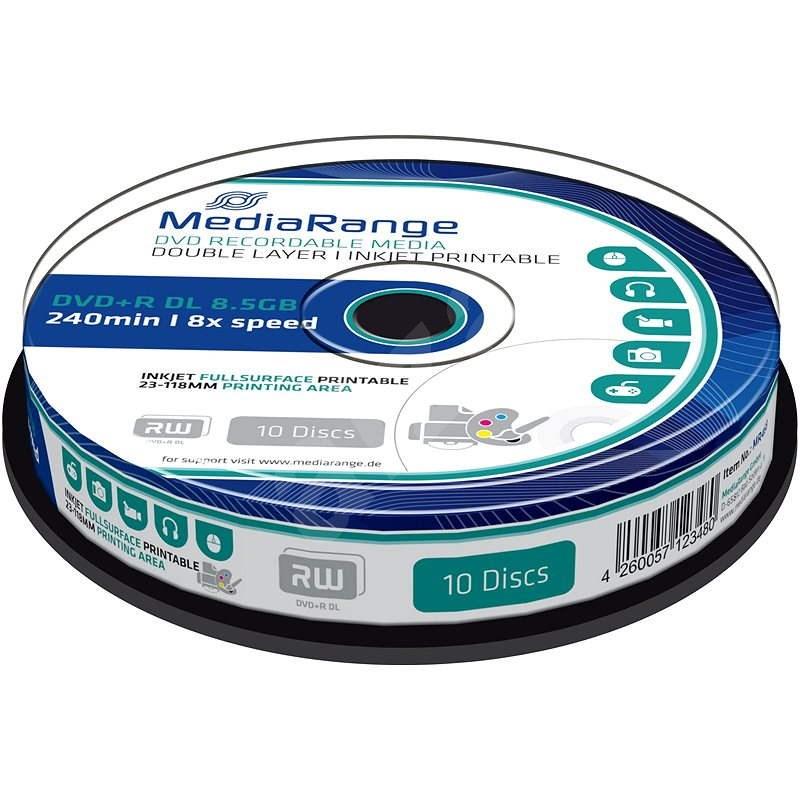 Mediarange DVD+R 8.5 GB 8x Dual Layer spindl 10 ks Inkjet Printable - Média