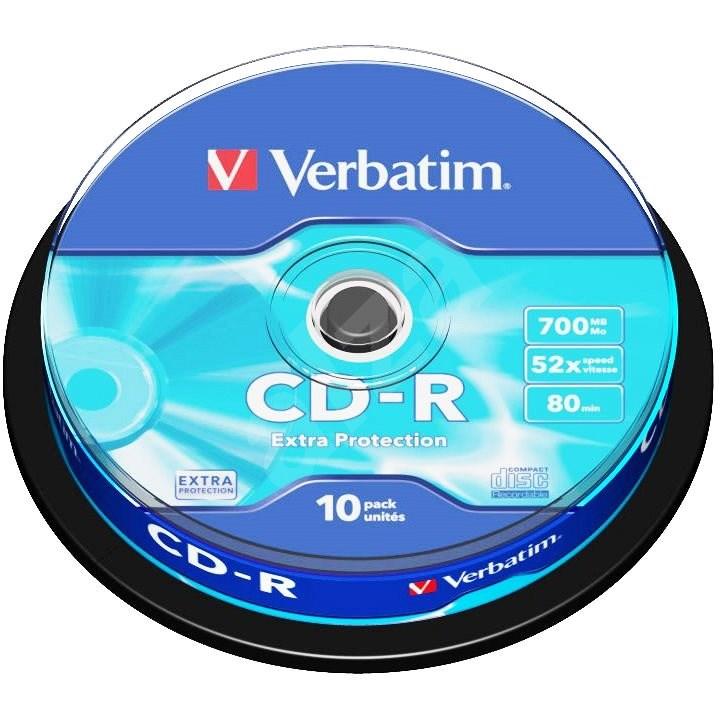 VERBATIM CD-R 700MB, 52x, spindle 10 ks - Média