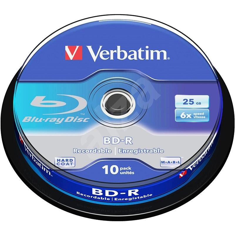 VERBATIM BD-R SL 25GB, 6x, spindle 10 ks - Média
