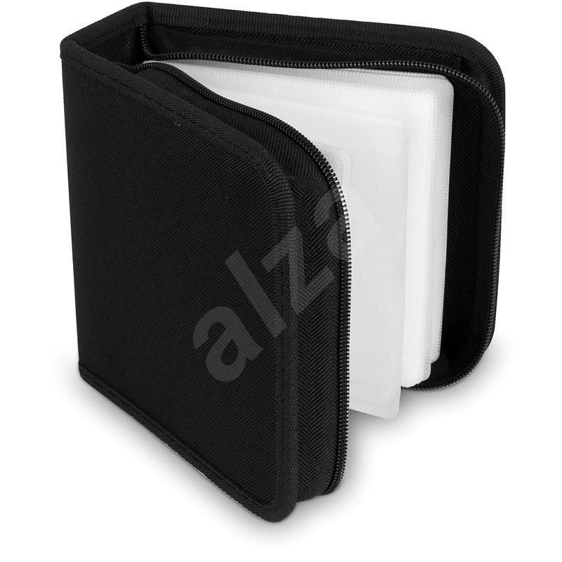 COVER IT pouzdro na 48 CD/DVD zapínací černé - Pouzdro na CD/DVD