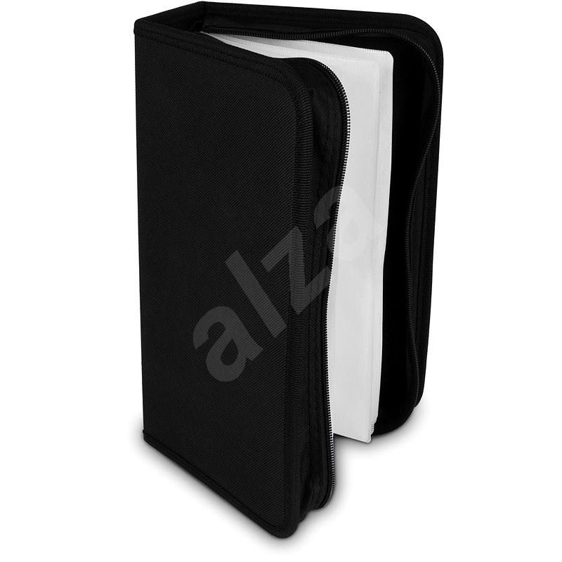 COVER IT pouzdro na 128 CD/DVD zapínací černé - Pouzdro na CD/DVD