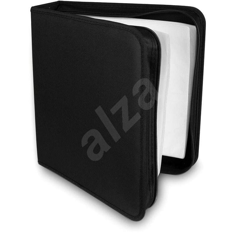COVER IT pouzdro na 200 CD/DVD zapínací černé - Pouzdro na CD/DVD