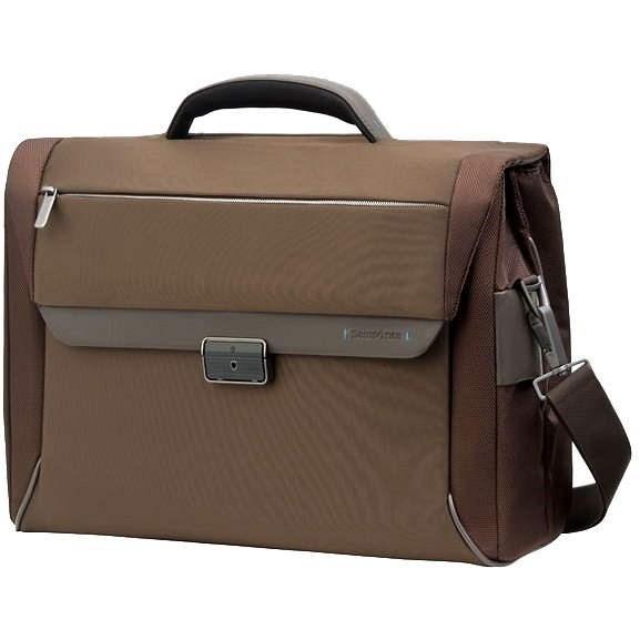 "Samsonite Spectrolite Briefcase 2 Gussets 16"" hnědá - Brašna na notebook"