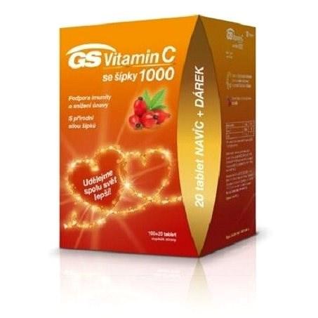 GS Vitamin C1000 + šípky tbl. 100+20 dárek 2020 ČR/SK - Vitamín C