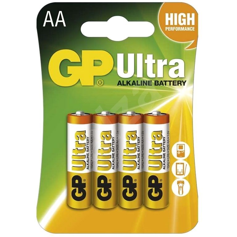 GP Ultra Alkaline LR6 (AA) 4ks v blistru - Jednorázová baterie