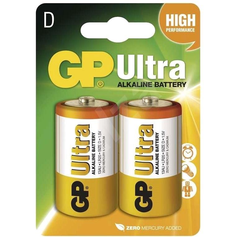 GP Ultra Alkaline LR20 (D) 2ks v blistru - Jednorázová baterie