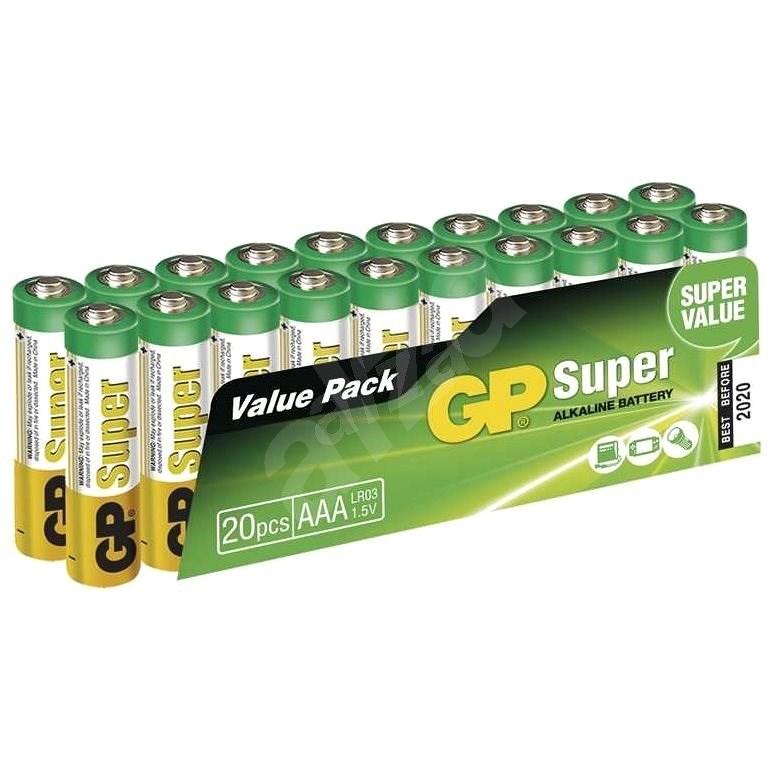 GP Super Alkaline LR03 (AAA) 20ks v blistru - Jednorázová baterie