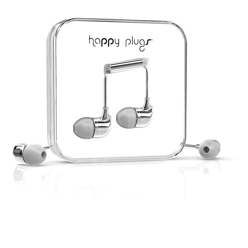 Happy Plugs In-Ear Silver - Sluchátka