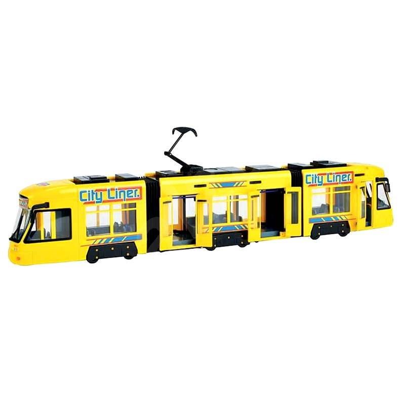 KidsMate Tramvaj žlutá - Plastikový model