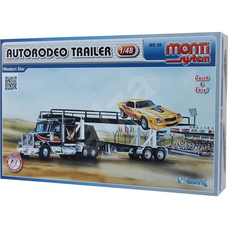 Monti system 39 - Autorodeo trailer Western star měřítko 1:48 - Stavebnice