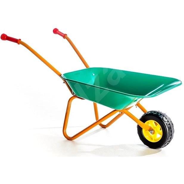 Plechové kolečko Yupee zelené - Dětské zahradní kolečko