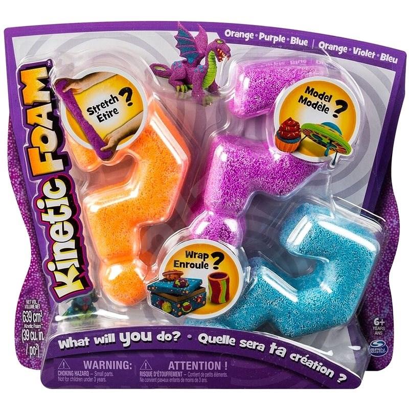 Kinetic Foam - Multi pack (oranžová, fialová, modrá) - Modelovací hmota