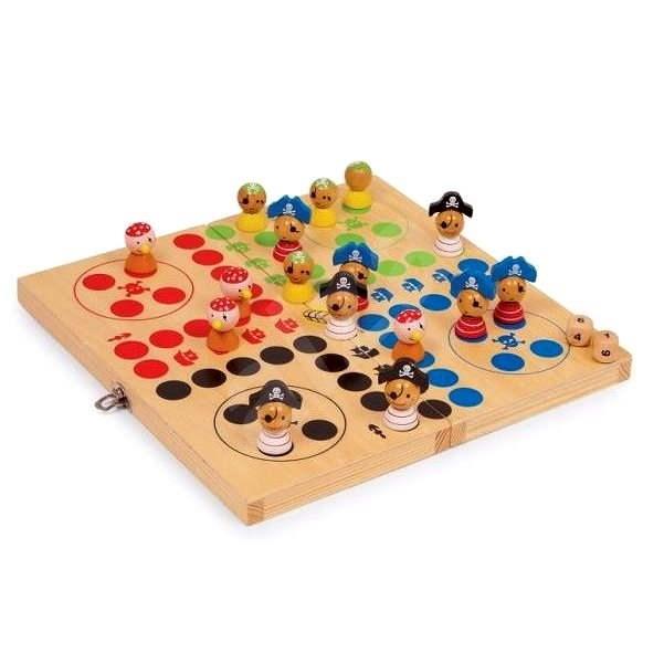 Dřevěné hry - Člověče nezlob se, piráti - Společenská hra