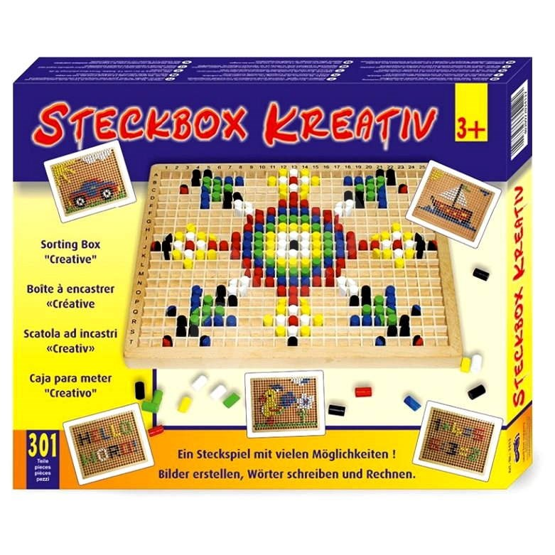 Dřevěný nasouvací box - Kreativní hračka