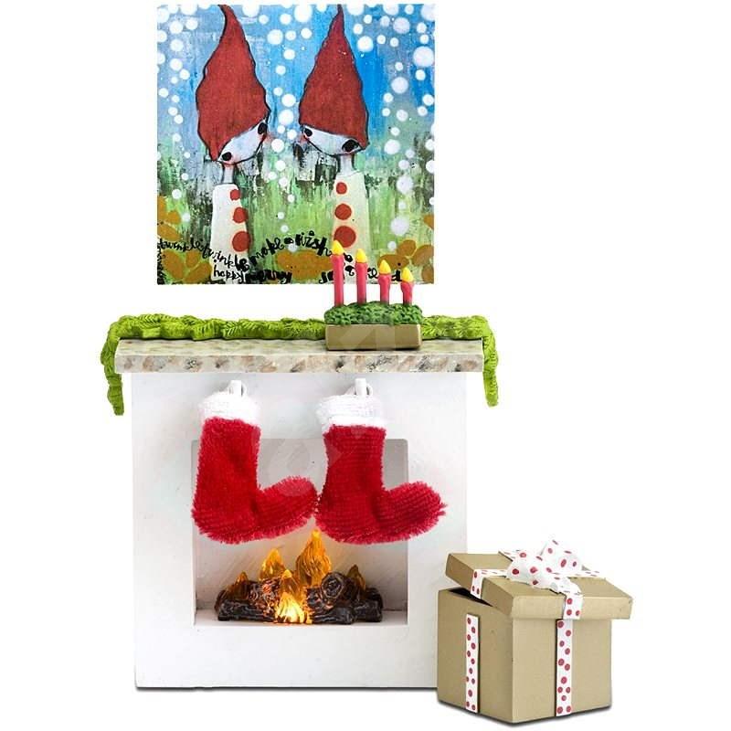 Lundby Smaland - Vánoční krb - Nábytek pro panenky