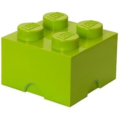 LEGO Úložný box 4 250 x 250 x 180 mm - limetkově zelený - Úložný box