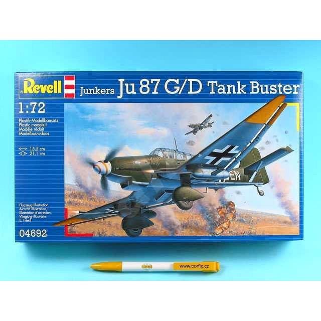 Plastic ModelKit letadlo 04692 - Junkers Ju87 G/D Tank Buster - Model letadla