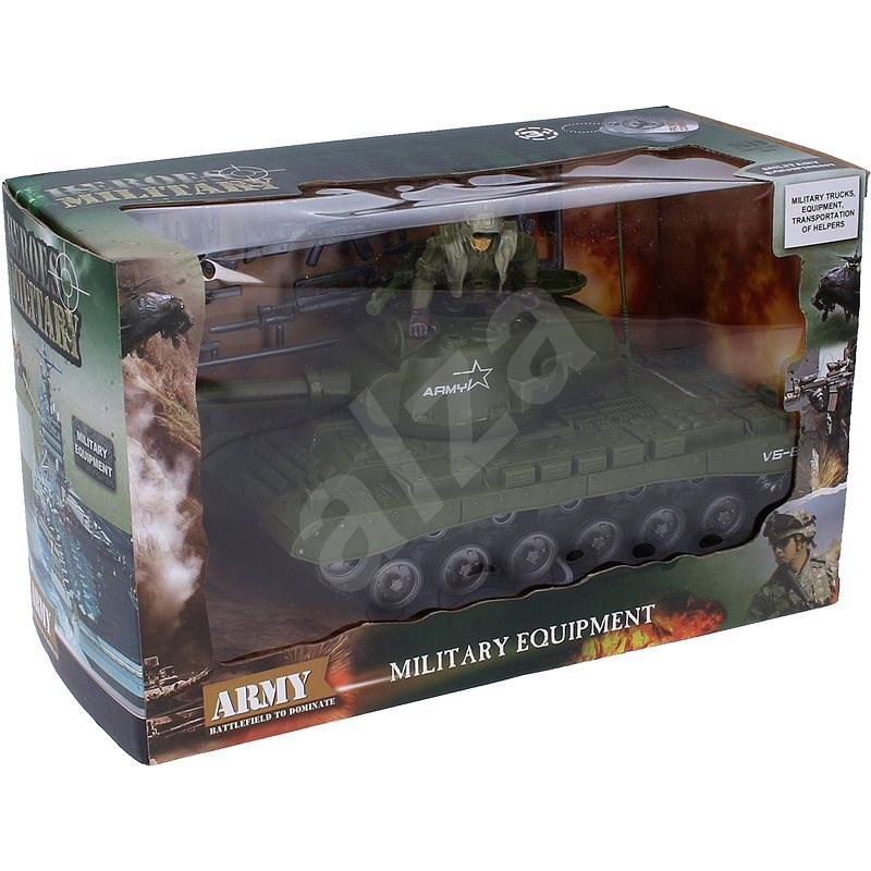 Wiky tank s vojákem a doplňky - Auta