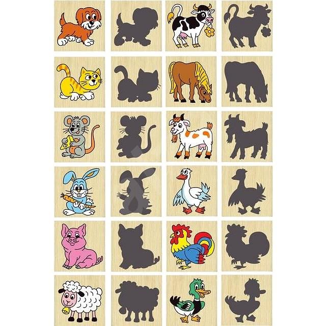 Pexeso zvířátka a jejich stíny - Společenská hra